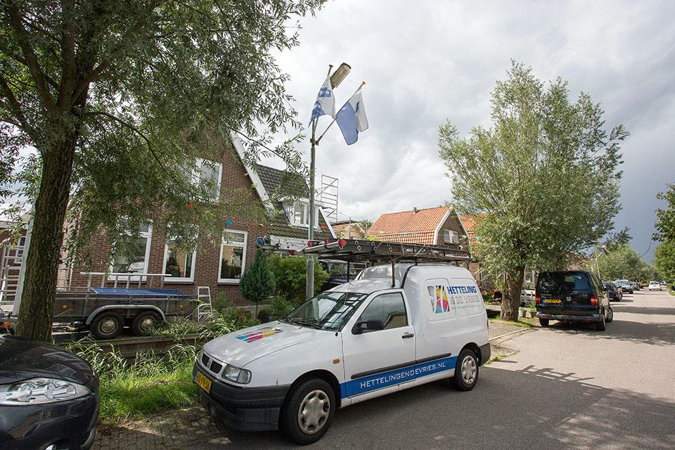 Gehele buitenschilderwerk vrijstaande woning (Krommeniedijk, Krommenie)