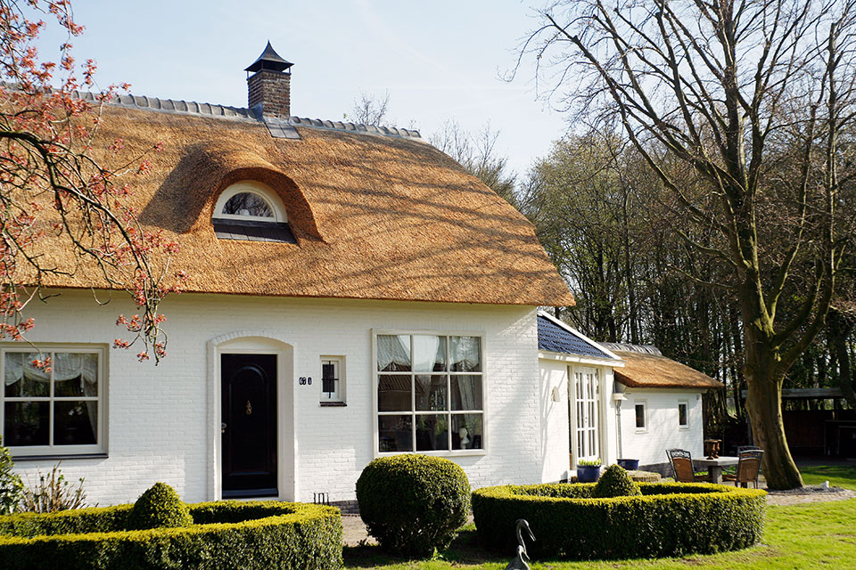Buitenschilder- en sauswerk van vrijstaande woning (Zuiderweg, Wijdewormer)