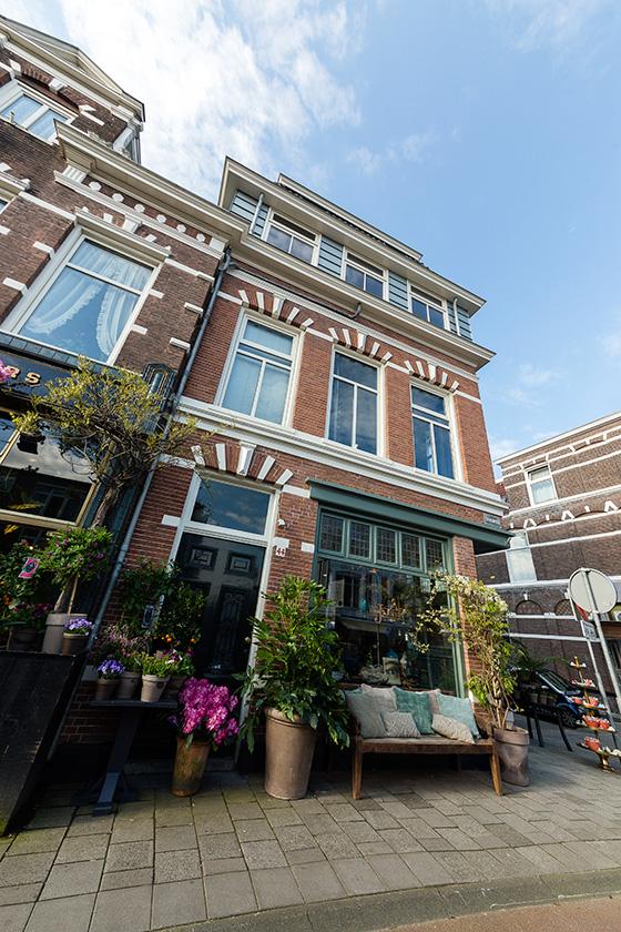 Divers buiten- en binnenschilderwerk Jasmijn Bloembinders (Zijlweg, Haarlem)